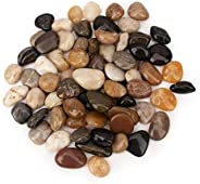 LAMAC CRAFTS - Assorted Colored Pebbles Stone Rock Gravel (2 pounds) - For Aquarium/Garden/Beach/Vases/Terrami
