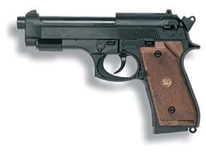 Edison Giocattoli Parabellum: Spielzeugpistole für Zündplättchen, ideal als Faschingsausrüstung, 13 Schuss, in Box, 19.3 cm, schwarz (E0263/22)