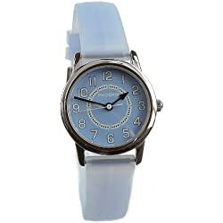 Phoenix Women's Quartz Watch with Blue Dial Analogue Display and Rubber Strap PX067453001