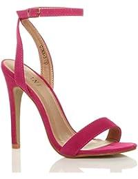 Donna alto tacco partito quasi lì fibbia con cinturino sandali scarpe numero 8bd6e515059