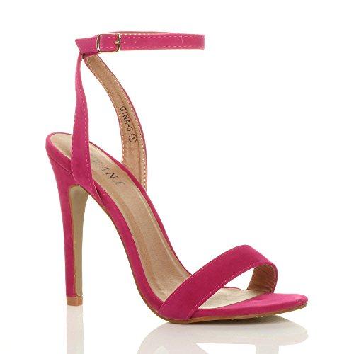 Ajvani donna alto tacco partito fibbia con cinturino sandali scarpe numero 5 38