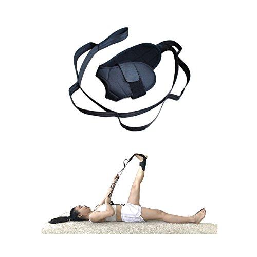 Dehnungsband für Yoga Bein Stretch Assist Träger Fuß Pad Körperliche Therapie Fitnessband Knöchel Band Keilrahmen Gürtel mit mehreren Grip Schlaufen für Reha Achillessehne Pilates Workout verbessern Flexibilität (Nylon-warm-ups)