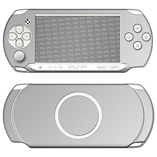 atFoliX Skin kompatibel mit Sony PSP-E1000 / E1004, Designfolie Sticker (FX-Chrome-Glossy-Silver), Verchromt / Chrom / Glanz-Effekt (Psp Chrome)
