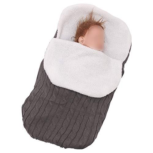 Meijunter Neugeborenes Baby Schlafsack - Kleinkind Stricken Weiche Warme Fleece Decke Kinderwagen Schlaf Sack Unisex Bunting Wrap für Baby Jungen Mädchen