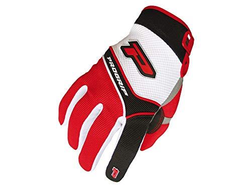 Handschuhe ProGrip MX 4010 weiß-rot Größe M