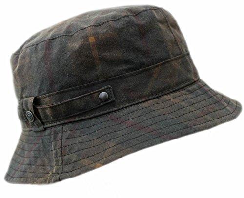BUGATTI Regenhut gefüttert Hut knautschbar Angelhut Wasserabweisend Teflon Braun 55