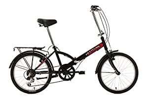 "Ks Cycling Vélo pliant Noir 20"""