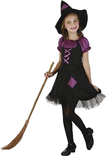 Lila Hexen-Kostüm für Mädchen 140/152 (10-12 Jahre) (Hexe Mädchen Kostüm Für)
