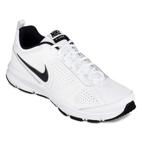 acc7bfec4232d Nike 616545-101 Mens T Lite Xi Cross Trainer White Black Obsidian 8 ...