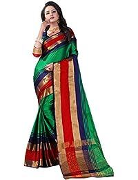 Active Women's Cotton Silk Jacquard Saree