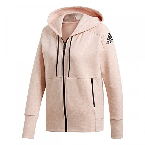 adidas Damen ID Hooded Kapuzen-Jacke Stadium Heather/Haze COR L