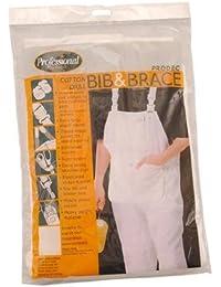 ProDec–Pintores Decoradores 100% algodón color blanco incluye pantalones y pechera trabajo trajes con acolchada rodilla y rodilleras bolsillos