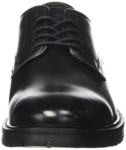 Base London Barrage, Derbys Homme Noir (Black Waxy)