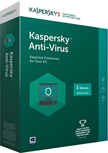 Kaspersky Anti-Virus Latest version - 1 PC, 3 Years (CD) (Chance to win Rs.1000 Amazon Gift voucher)