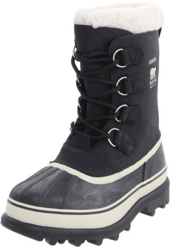 Sorel Caribou, Damen Warm gefütterte Schneestiefel, Schwarz (Black, Stone 011), 36 EU (Boot Waterproof Suede Casual)