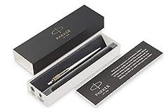 Idea Regalo - Parker Penna a Sfera Jotter con Dettagli in Oro, Confezione Regalo, Stainless Steel Golden Trim