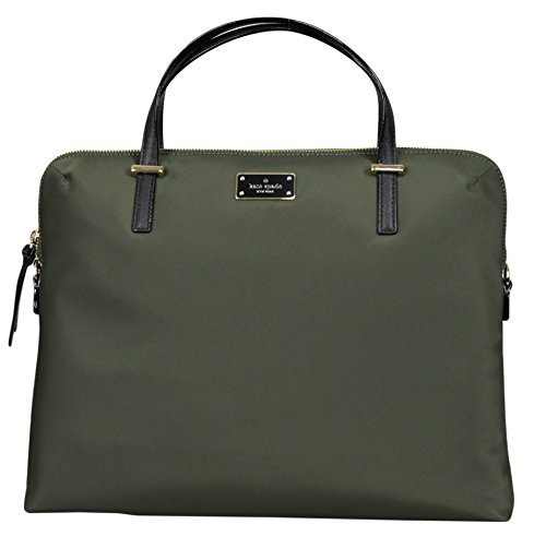 Kate Spade New York Stretch-Ring Wilson Daveney Road Laptop-Umhängetasche (groß) grün evergeen - Kate Notebook-tasche Spade