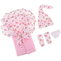B Baosity Kit de Sombrero Calcetines Ropa Interior Calzoncillos Manta Juguete Eductivo para 26-28cm