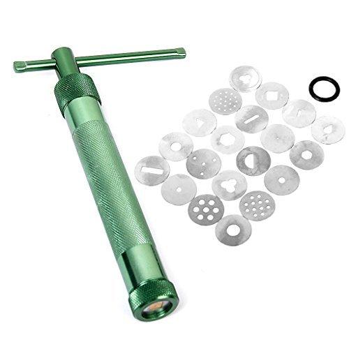 Flyyfree Clay Extruder Handwerk Maschine w 20 Extrusion / Scheiben Kuchen Zucker Kunsthandwerk Dekoration Werkzeug
