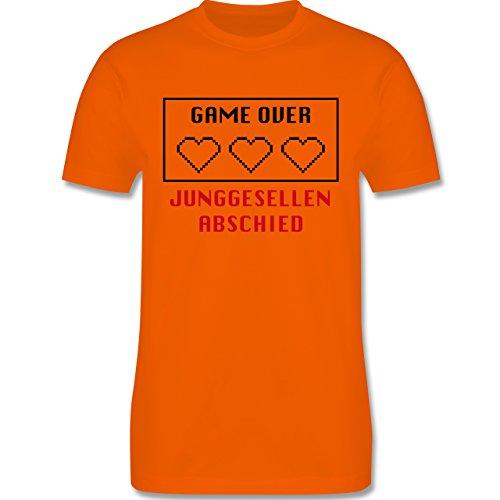 JGA Junggesellenabschied - Game Over Herzen - Herren Premium T-Shirt Orange