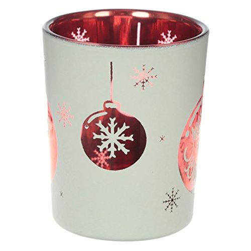 Juego de bolas de Navidad de 2luz o soportes para velas de té de cristal