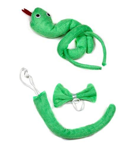 Kostüm Erwachsene Snake Für - Petitebelle 3D-Stirnband Bowtie Schwanz Kostüm für Erwachsene Einheitsgröße 3d Snake Grün