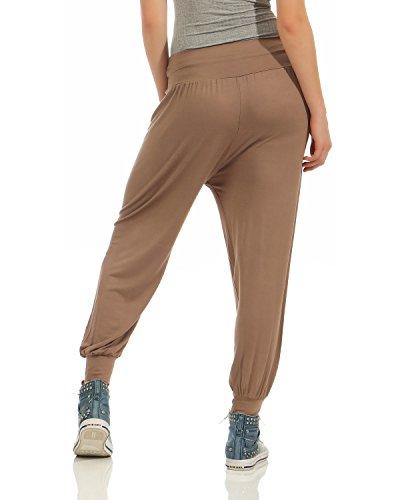 ZARMEXX pantaloni casuali tinta unita bloomers harem estivi pantaloni stile signore Harem i pantaloni di ballo di yoga (S - 3XL) Marrone