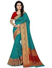 Arkita Designer women's Silk Saree with Blouse Piece (Free Size)