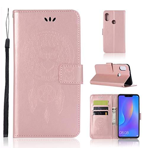 Zchen Huawei P Smart Plus Hülle, Kunstleder Portemonnaie Handy-Schutzhülle Book Flip Design...
