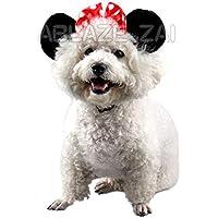 Ablaze Zal Cute Pet Birthday Supplies Dog Cat Accesorios Diadema de Dibujos Animados de Mickey Mouse Forma Diadema Banda para el Cabello