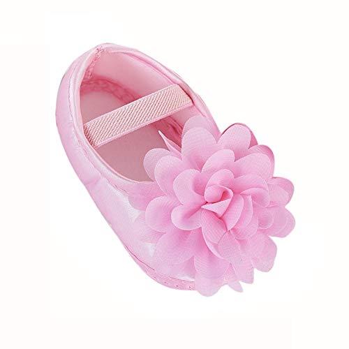 rnschuhe Babyschuhe Anti-Rutsch-Weiche Taufe Blume Prinzessin Schuhe Hausschuhe Sneaker für Kleinkind ()