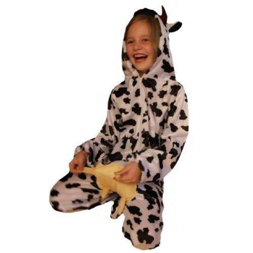 AN32 Größe 104-110 Kuh Kostüm für Kleinkinder und Kinder, bequem über normale Kleidung zu (Pferd Kostüm Kuh)