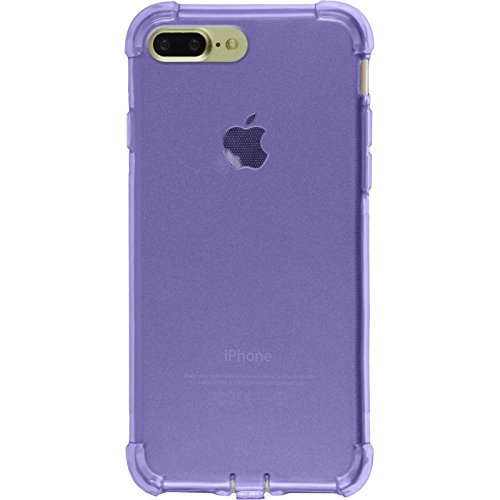 PhoneNatic Case für Apple iPhone 7 Plus Hülle Silikon rosa Shock-Proof Cover iPhone 7 Plus Tasche + 2 Schutzfolien Lila