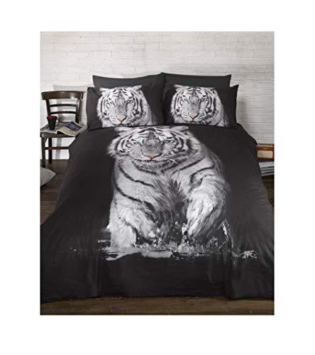 Urban Unique Tiger Panel Bettbezug und Kissenbezug-Set, King Size - Urban Duvet-set