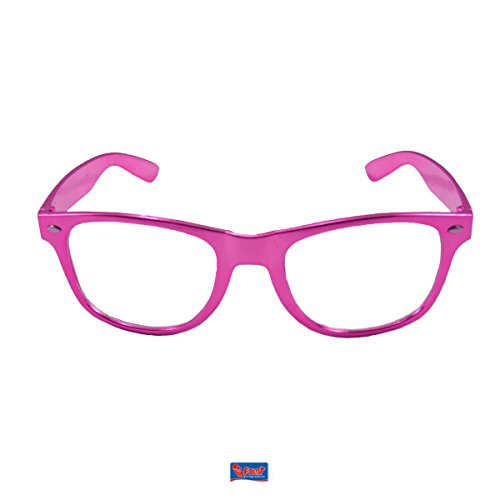 pinke Brille Metallic