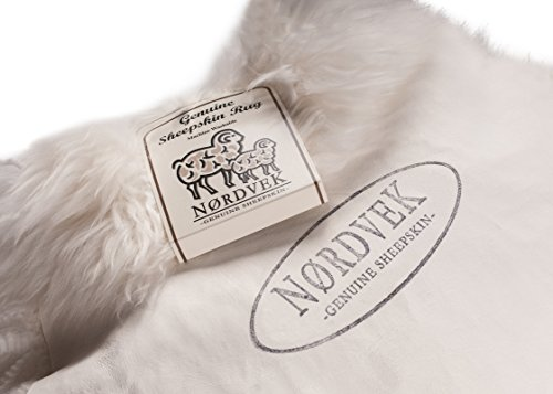 Nordvek 100% Genuine Premium Quality Natural Sheepskin Rug Full Pelt - Various Sizes Available # 601-100 - Natural, Double