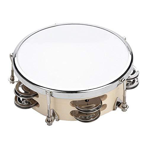 Dilwe Hand Tamburine Trommel, Verstellbare Holz Hand Tamburin Tunable Hand Drum Bell Percussion Musikinstrument für Kinder Kinder(6 Zoll)