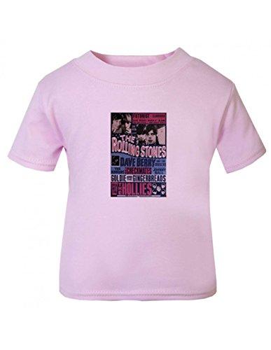 Rolling Stones futurist Children T Shirt Pink