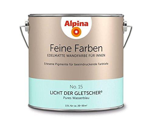 Alpina 2,5 L. Feine Farben, Farbwahl, Edelmatte Wandfarbe für Innen (No.15 Licht der Gletscher - Pur