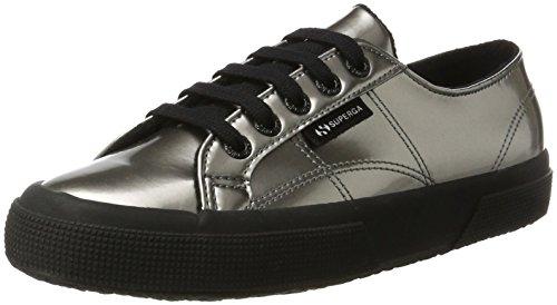 Superga 2750-Varnishmirrorw, Sneaker a Collo Basso Donna Argento (Grey Silver)