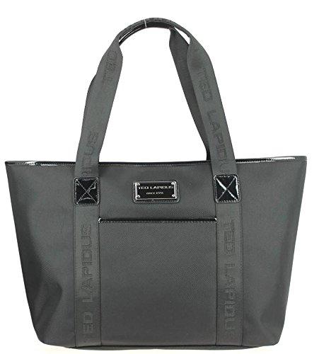 Grand sac cabas porté épaule toile Ted Lapidus Tonic TL NY4010 (Noir)