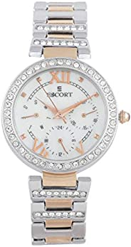 Escort Analog White Dial Women's Watch-E 2400-2997 R