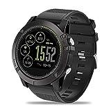 Die besten Casio Herzfrequenz-Uhren - JINRU Smart Watch Herzfrequenzüberwachung 5ATM Wasserdichten Herzfrequenz-Monitor-Sport-Pedometer Schlaf-Überwachung,Black Bewertungen