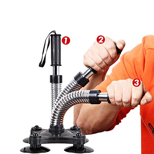 SZPDD Carpal Expander Hand Gripper Stärken Wrestling Arm Blaster Exerciser Power Twister Fitness Trainingsgerät Fitnessgeräte,Silver,Heavy (Stärke Wrestling)