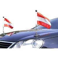 DIPLOMAT-FLAGS Couple Porte-drapeau de voiture Diplomat-1 Autriche à adhésion magnétique