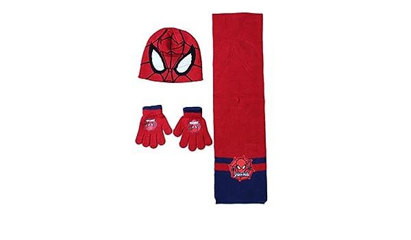 PSG Spiderman Bonnet avec Gant ET Echarpe Ensemble Spider-Man Marvel   Amazon.fr  Cuisine   Maison 7c7d04255d1