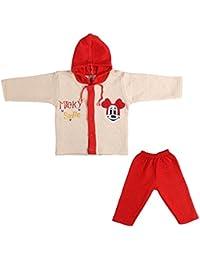 LK Vyapaar Pvt Ltd Unisex Cotton Winter Wear 2 Piece Hoodies (FIT-P275-WINT-HOOD-Red-26-12-21_6-12 Months)
