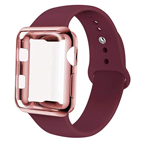 INZAKI Correa con Funda para Apple Watch 44mm