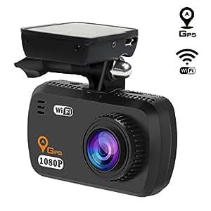 toguard telecamera per auto wifi dash cam gps full hd. Black Bedroom Furniture Sets. Home Design Ideas