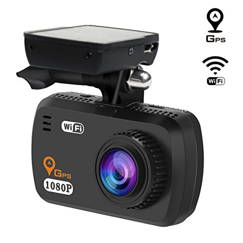 TOGUARD In Car Dash Cam with GPS WIFI, Full HD 1080P Mini Car Dash Camera, Parking Monitor,LDWS,G-Sensor,WDR,Loop Recording,Support CPL filter